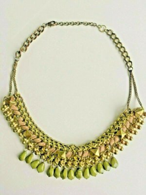 Collier Necklace olive green-gold-colored