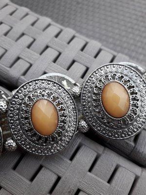 Bracelet argenté-marron clair