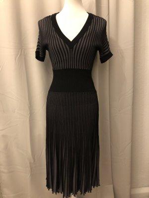BCBG Maxazria Midi-jurk zwart-lichtgrijs