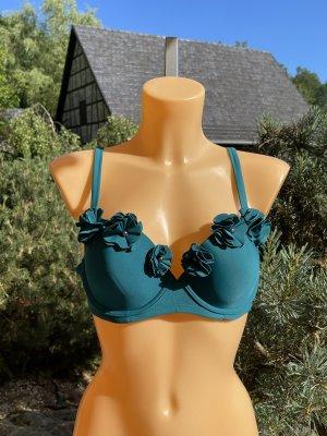 Wunderschönes Bikini-Oberteil * Smaragdgrün * Größe 85 C * Neu mit kleinem Schönheitsfehler