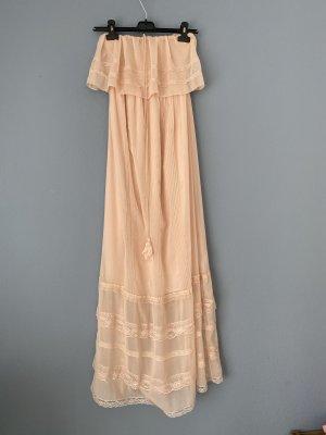 Vestido corte imperio rosa