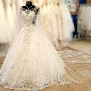 Handmade Wedding Dress white-natural white mixture fibre