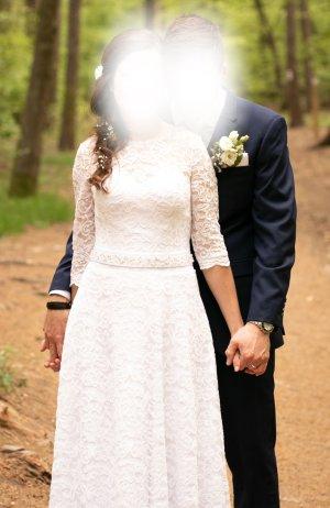 Wunderschönes Brautkleid / Hochzeitskleid mit Spitze Gr. 36