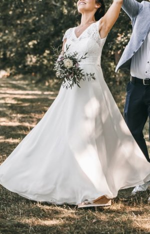 Bianco Evento Abito da sposa crema-bianco