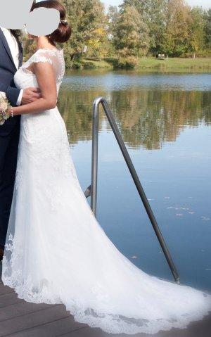 Ladybird Suknia ślubna jasnobeżowy-biały Tkanina z mieszanych włókien