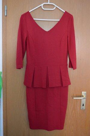 Mint&berry Sheath Dress dark red viscose