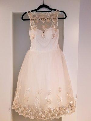 Wunderschönes Cocktailkleid / Hochzeitskleid in Ivory / Elfenbein von Little Mistress
