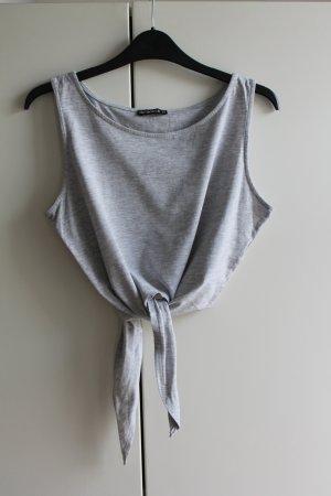 Terranova Camicia cropped grigio chiaro-grigio