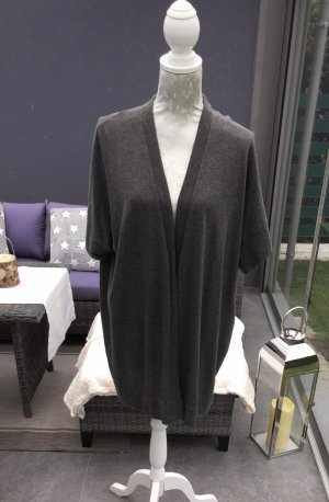 Persona by Marina Rinaldi Gilet long tricoté gris