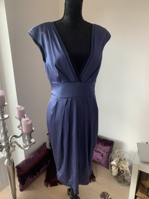 Alberta Ferretti Vestido de noche azul acero