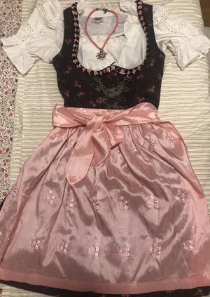 Country Line Dirndl brown-neon pink