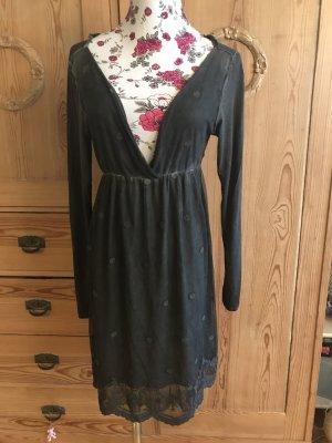 Wunderschönes duftiges Kleid in dunkelgrau Gr. 36/38
