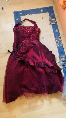 Wunderschönes,elegantes,rot schimmerndes Ballkleid in 48