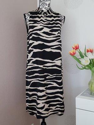 wunderschönes elegantes Sommer Kleid Gr.S 36 schwarz creme