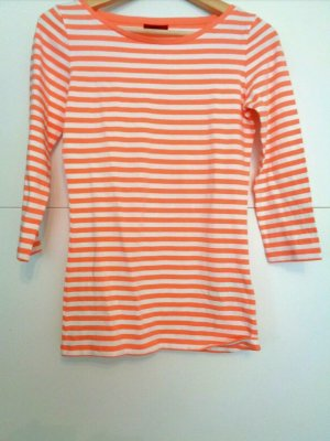 Hugo Boss T-shirt rayé blanc-orange
