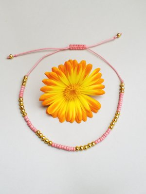 Anklet gold-colored-apricot