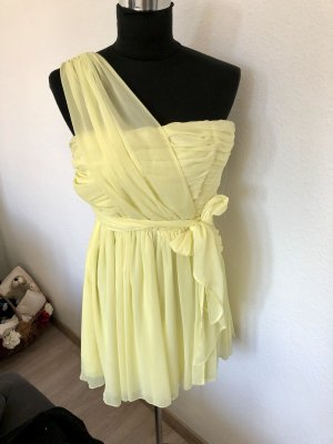 Topshop One Shoulder Dress primrose