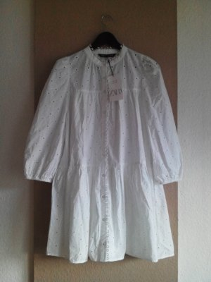 wunderschönes gesticktes Minikleid aus 100% Baumwolle, Größe M, neu