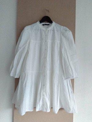 wunderschönes gesticktes Minikleid aus 100% Baumwolle, Größe S oversize, neu
