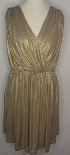 Rare london Vestido estilo flounce color oro