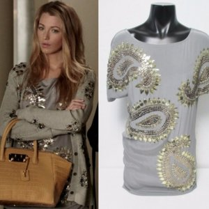 Wunderschönes Graues Shirt-Kleid mit Gold-Pailletten von Stella McCartney (M)