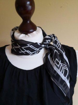 Zijden doek zwart-wit Zijde