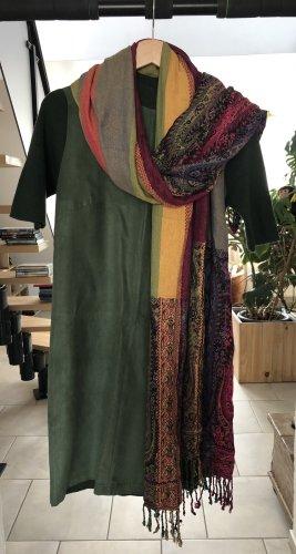 Nümph Swetrowa sukienka ciemnozielony-khaki
