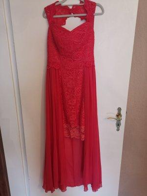 Robe bustier rouge tissu mixte
