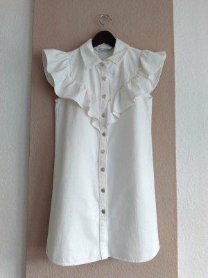 Zara Denim Dress natural white cotton