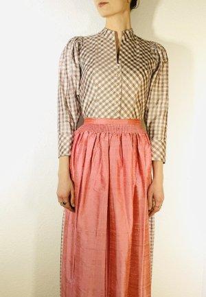 Vintage Dirndl grey-dusky pink silk