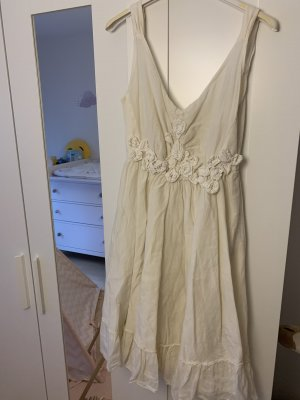 Made in Italy Lace Dress natural white-cream
