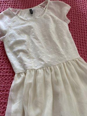H&M Vestido babydoll blanco puro-crema