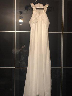 100% Fashion Robe de soirée blanc