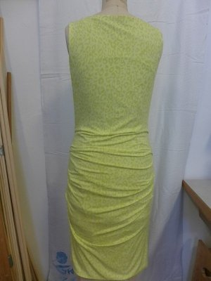 Cassani Midi-jurk geel-neongeel Viscose