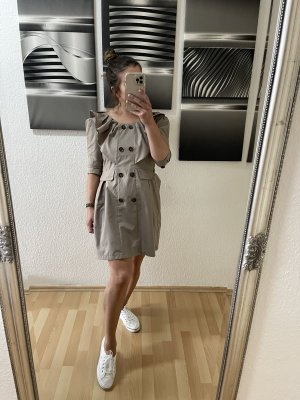 Vestido estilo flounce marrón grisáceo
