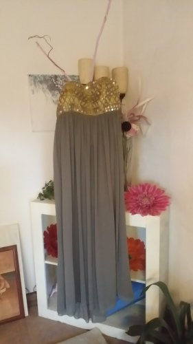 Apart  glamour Off-The-Shoulder Dress gold-colored-grey brown