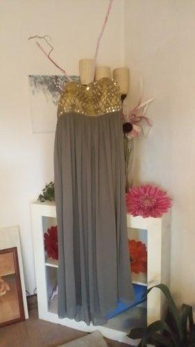Apart  glamour Vestido strapless color oro-marrón grisáceo