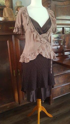 Made in Italy Vestido de lana marrón oscuro