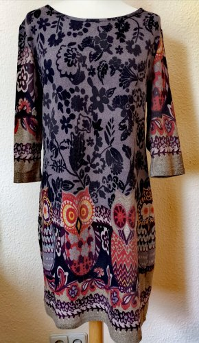 Apricot Woolen Dress multicolored polyester