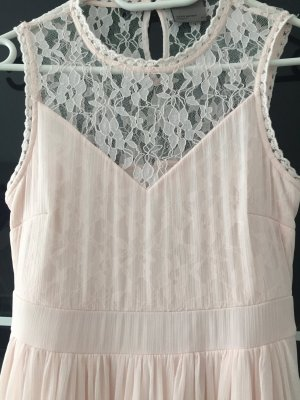 Wunderschönes Kleid mit Spitze, rosa, Gr. 34/XS
