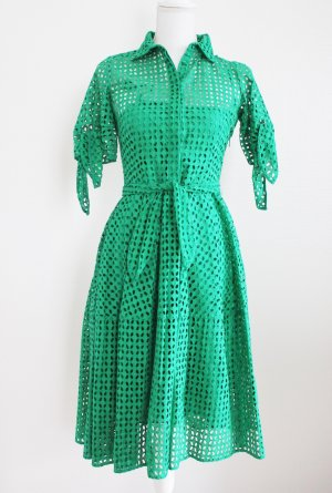 Carolina Herrera Midi-jurk groen Katoen