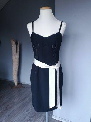 Wunderschönes Kleid von Comma - Gr 36 Cocktailkleid Midikleid Etuikleid Midi Büro Bürokleid Kleine Schwarze - schwarz weiß creme Sommerkleid