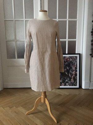 COS Robe à manches longues blanc cassé coton