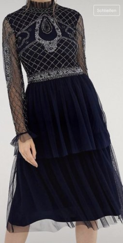 Frock and Frill Ball Dress dark blue