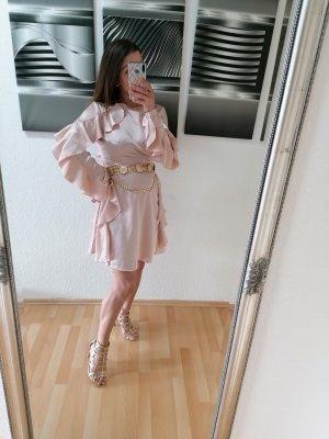 Wunderschönes Kleid von Glamorous, Größe S/36, Powder Rose, Volantkleid
