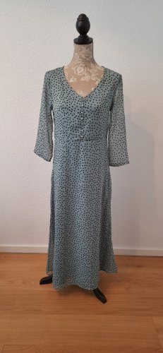 Pieces Robe d'été noir-bleu cadet