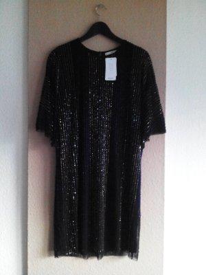 wunderschönes kurzes Kleid mit Schmuckperlen, Handgearbeitet, Grösse M, neu