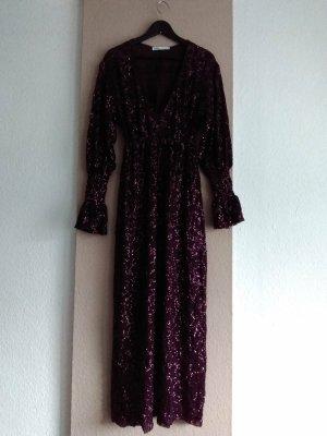 wunderschönes langes Paillettenkleid in Burgunderrot, Grösse M, neu