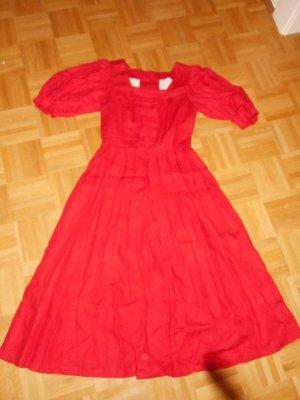 Dirndl rosso mattone Lino