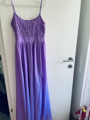 0039 Italy Vestido largo lila